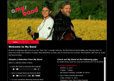 Amy's Band Home Page