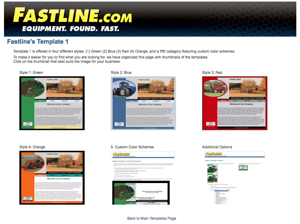Fastline Customer Template 1