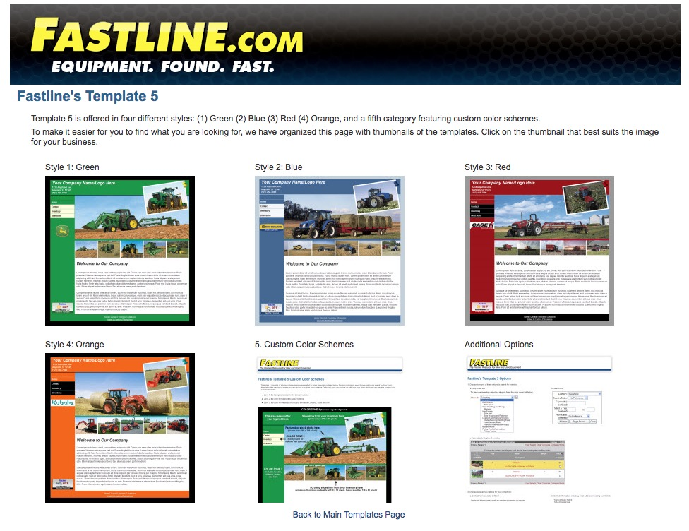 Fastline Customer Template 5