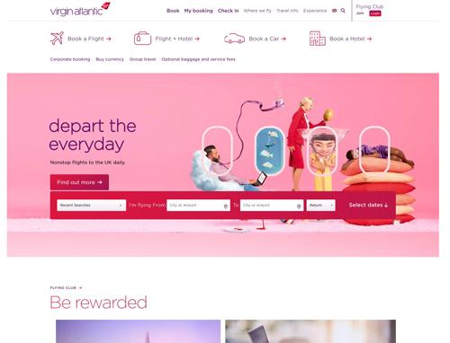 Virgin Atlantic Home Page